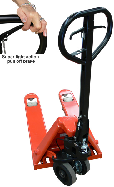 Designed with health & safety in mind: the CMH deadman brake pallet truck